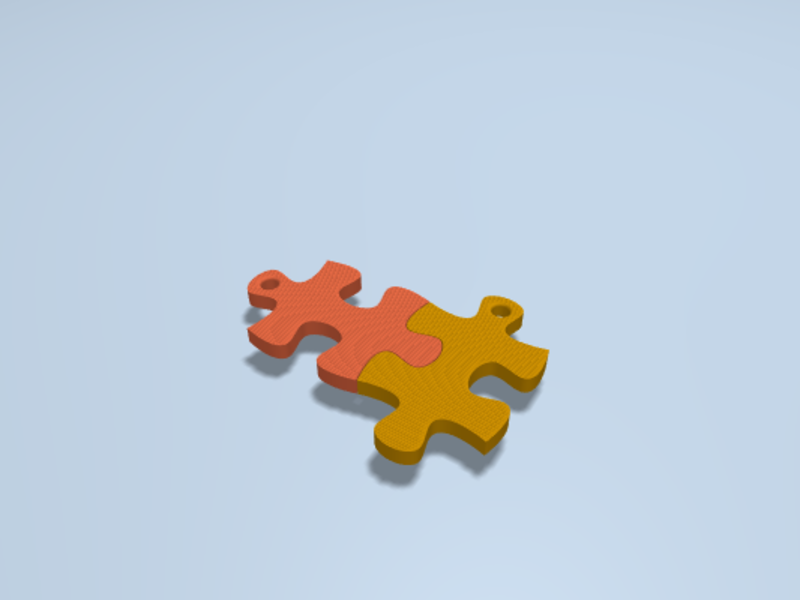 Puzzle Keychain : Toybox - 3D Print Your Own Toys